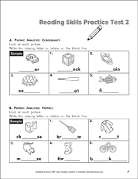 Phonics worksheets and printables support early literacy learning concepts for kindergarten to the 2nd grade. Reading Skills Practice Test 2 Grade 2 Printable Test Prep And Tests