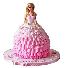 Pink Dress Barbie Cake 2kg Chocolate