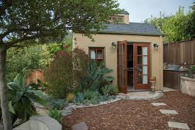 cottage office. My Houzz: Backyard Cottage Office And An Artful Low-Water Garden Traditional-garden