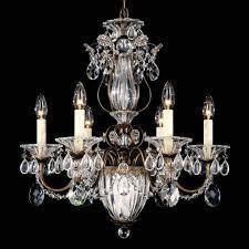 schonbek 1246 bale 7lt swarovski spectra crystal ceiling chandelier