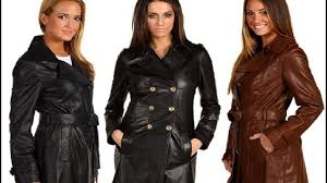 women in long leather coats