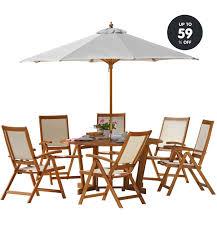 garden furniture set albury 6 seater
