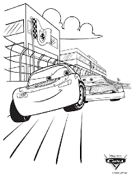 Small Picture Disney Cars Race Coloring Page crayolacom