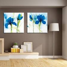 simple blue flower canvas art prints painting large modern abstract flower wall artwork for living room on large blue flower wall art with simple blue flower canvas art prints painting large modern abstract