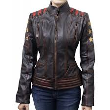 cafe racer vintage classic women s ox blood waxed brown leather jacket