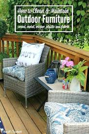 how to clean outdoor furniture easiest way cushions