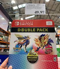 USA/Costco] Pokemon sword and shield double pack $49.97: NintendoSwitchDeals