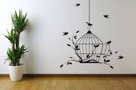 bird cage vinyl wall decal sticker wall