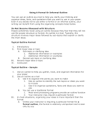 Formal Outline Youtube Research Paper Samples For How To