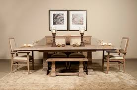 Classic And Modern Designs For Distressed Dining Table  Home Bench Seating For Dining Room Tables
