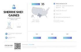 Sherrie Sherrie Gaines, (530) 233-3248, PO Box 1535, Brazoria, TX ...