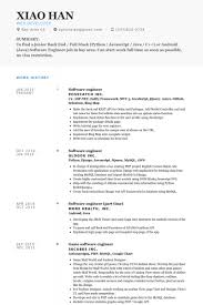 Software Engineering Resume Examples Musiccityspiritsandcocktail Com