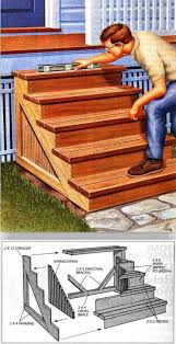Outdoor Steps Building Porch Steps Outdoor Plans And Projects Woodarchivist