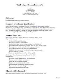 Web Designer Resume Sample Resume Web Designer Therpgmovie 20