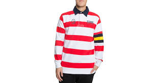 lyst bbcicecream sdsters striped rugby polo in red and white in red for men