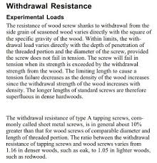 Wood Lag Screw Allowed Tension Values Structural