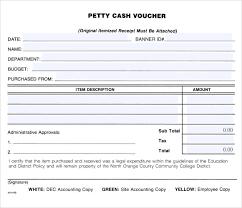 Petty Cash Slip 11 Petty Cash Voucher Templates Word Psd Ai