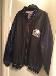 dallas cowboys nfl genuine leather jacket mens 2xl g iii carl banks