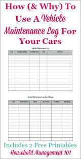 Free Printable Vehicle Maintenance Log Why You Should Have