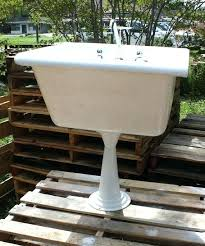 cast iron sink utility cast iron farmhouse or utility sink with pedestal corner and wall mount