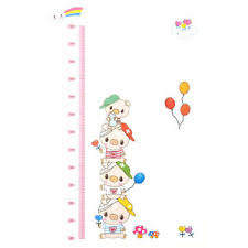 Pig Growth Chart Details About Pig Growth Height Measure Chart Pattern Wall Sticker Diy 70 X 50cm