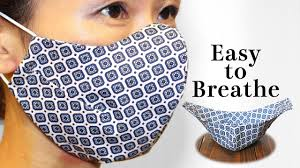 breathable 5 dart face mask sewing