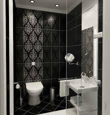 Small Bathroom Black and White Tile Design Ideas EVA Furniture