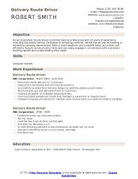 Delivery Route Driver Resume Samples Qwikresume
