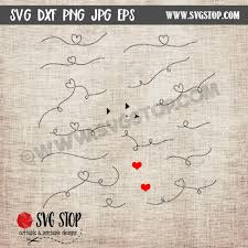 Next, draw the dotted line that you'd like to make square. Dotted Lines With Arrows Hearts Cut Files The Svg Stop