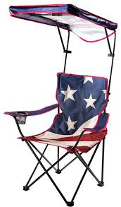 quik shade us flag folding camp chair with adjule sun shade