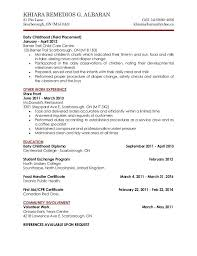 Ideas Collection Sample Cover Letter For Resume Child Care Child