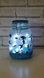 lighting in a jar. Mermaid Light,Night Light,Mood Lighting,Mermaid In A Jar,Beach Wedding,Fairy Lights,Mermaid Life,Bedroom Decor, Wedding Decor,mermaid Decor Lighting Jar