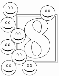 Small Picture Numbers 8 coloring page