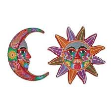 ceramic wall art festive moon and sun pair fair trade mexican talavera sun wall art fair wall art ideas ceramic  on talavera ceramic wall art with tile pottery wall art sun face mexican ceramic wall art uk tile
