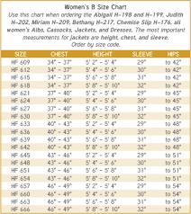 Choir Robe Size Chart Murphy Robes Size Charts