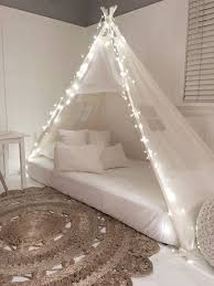 Play Tent Canopy Bed in Natural Canvas | Pinterest | Tent canopy ...