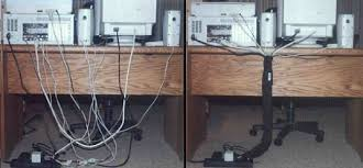 office cable management. Office Cubicle (1) And Desktop Cable Management