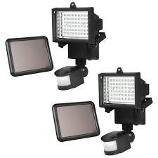 best choice s 2 pack outdoor solar power flood light w 60 led lights