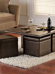 The base of this table is crafted from metal and features a complementary gold finish. Coffee Table With Seating Cubes Ideas On Foter