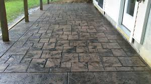 Best Mix Design For Stamped Concrete Stamped Concrete Porch Ashlar Slate Pattern With Seamless