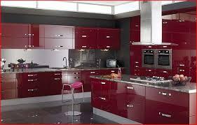 Modern Kitchen Shiny Burgundy Sgj Cuisine Design Deluxe Total
