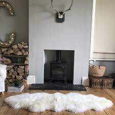 large double new zealand sheepskin rug ivory