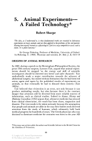 animal experiments a failed technology springer animal experimentation animal experimentation