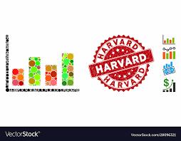 Harvard Chart Mosaic Chart Icon With Distress Harvard Seal