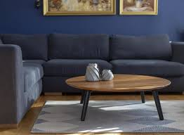 solid wood coffee table round contrast