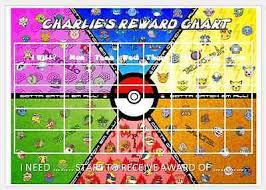 Pokemon Behaviour Chart Pokemon Personalised Reward Chart Kids School Free Stickers