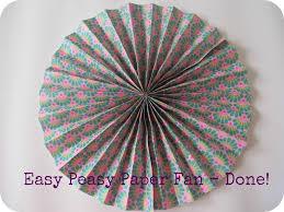 paper fan diy