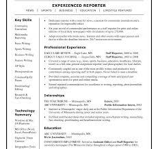 Resume News Reporter Sample Tv Columnist Contemporary Inspiration