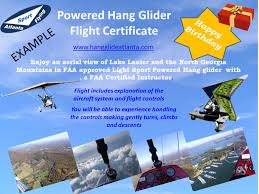 a gift certificate on line phone or email see flight dels for options custom wording and icons can be included pdf is emailed plus a hard copy