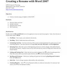 Nice Making A Cv On Microsoft Word 2007 Images Entry Level Resume